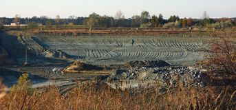 Clay pit Royalty Free Stock Photos