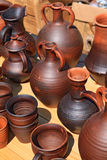 Clay pitchers Stock Photos