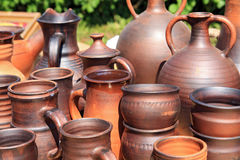 Clay pitchers Stock Images