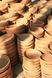 Clay plates Stock Photo