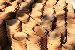 Clay plates Royalty Free Stock Photos