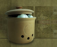 Clay Pot Royalty Free Stock Photography