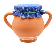 Clay pot. Clay pot isolated on white background royalty free stock image