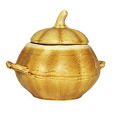 Clay pot. For eating on a white background Royalty Free Stock Photography