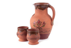 Clay Pot And Cup Royalty Free Stock Photos