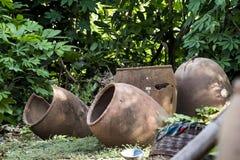 Clay Pot cassé africain Photos stock
