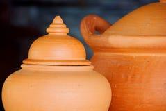 Clay pot. The closeup of clay pot Royalty Free Stock Photos