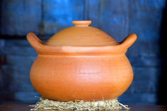 Clay Pot. Closeup of clay pot in day light royalty free stock photography
