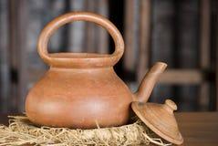 Clay pot. Closeup of an earthen pot or kettle Royalty Free Stock Photos