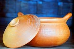 Clay Pot. Closeup of vintage clay pot Stock Images
