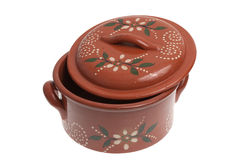 Clay pot for cooking Stock Photography
