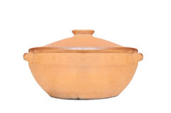 Clay pot for cooking Stock Images