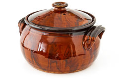 Clay pot for cooking Royalty Free Stock Photo