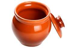 Clay pot for cooking. Stock Photos