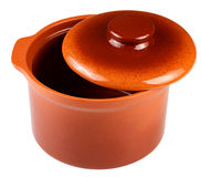 Clay pot for cooking. Royalty Free Stock Photo