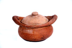 Clay pot. For Cooking in Thai kitchens.it is used used in the oven or on the stove top to cook Thai dishes royalty free stock image