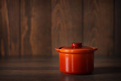Clay pot for cooking . Royalty Free Stock Images