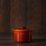 Clay pot for cooking . Royalty Free Stock Photos