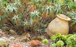 Clay Pot in a Garden Stock Photography