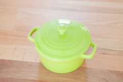 Clay pot in green Royalty Free Stock Photo