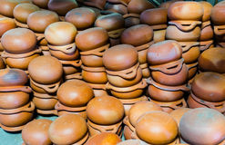 Clay Pot. Handmade clay pot : Earthenware from Thailand Stock Image