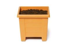 Clay pot isolated Stock Photo