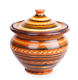 Clay pot with a lid Royalty Free Stock Photo