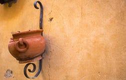 Clay Pot On Metal Stand Imagem de Stock Royalty Free
