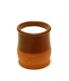 Clay pot with milk Royalty Free Stock Photos