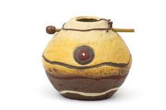 Clay pot, old ceramic vase Stock Photo
