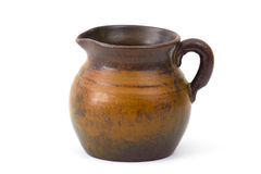 Clay pot, old ceramic vase Royalty Free Stock Image
