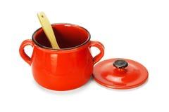 Clay Pot rojo vac?o fotografía de archivo libre de regalías