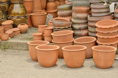 Clay pot showing for sale. Beautiful harden clay pot showing for sale Stock Photo