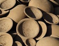 Clay pot Thai style handmad Royalty Free Stock Photography