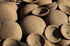 Clay pot Thai style handmad Royalty Free Stock Photos