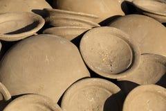 Clay pot Thai style handmad Royalty Free Stock Image