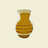 Clay pot stock illustration