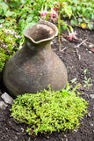 Clay Pot Used As Garden Decoration Royalty Free Stock Images