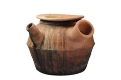 Clay pot used to boil Chinese medicine. Royalty Free Stock Photography