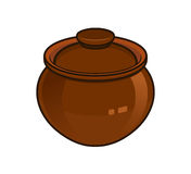 Clay pot. Vector illustration of a brown clay pot Stock Image