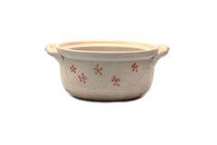 Clay pot on white background Stock Photo