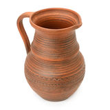 Clay pot  on white background Royalty Free Stock Image