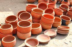 Clay pots Stock Photos