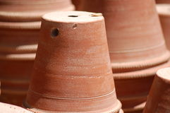 Clay Pots. At a nursery royalty free stock photography