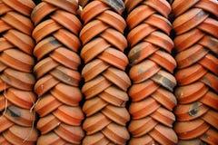 Clay pots. Beautifully arranged clay pots on display Stock Photography