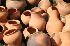 Clay pots Stock Photo