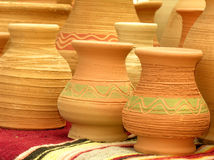 Clay pots. Hand made clay pots Stock Photography