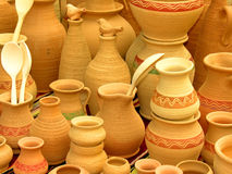 Clay pots. Hand made clay pots Stock Photos