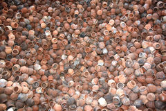 Clay Pots Background Stock Images