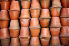 Clay Pots Background Stock Photography